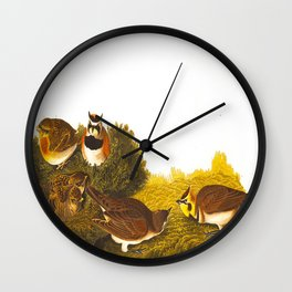 Shore Lark Bird Wall Clock