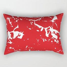 Abstract art red Rectangular Pillow