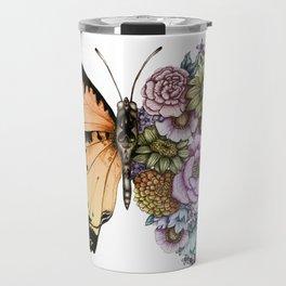 Butterfly in Bloom II Travel Mug
