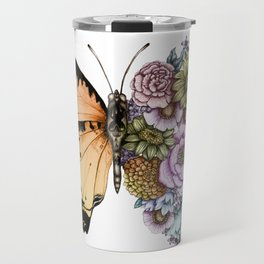 Butterfly in Bloom II Travel Mug