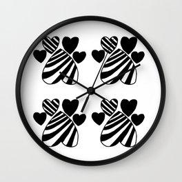 Pirate Paw Prints Wall Clock