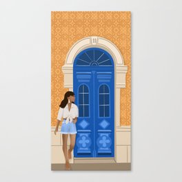 Dreaming of Portugal, Summer in Europe, Tiles, Door, Maroccan Style Canvas Print