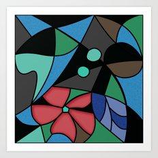 Abstract pattern Mosaic . Art Print