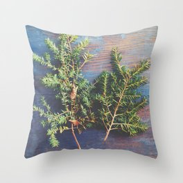 Hemlock on Blue Table Throw Pillow