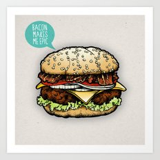 Epic Burger Art Print