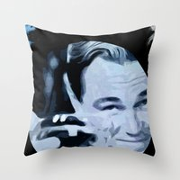 the great gatsby Throw Pillows featuring Great Gatsby by Instrum