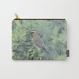 Cedar Waxwing Bird Carry-All Pouch