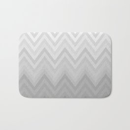 Chevron Fade Grey Bath Mat