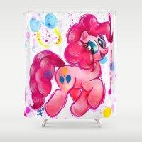 pie Shower Curtains featuring Pinkie Pie by JerZy