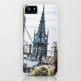 View from a Keep Cardiff Castle Wales iPhone Case