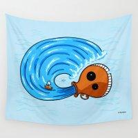 aquarius Wall Tapestries featuring Aquarius by Giuseppe Lentini