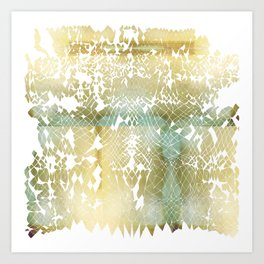 Fractured Gold Art Print