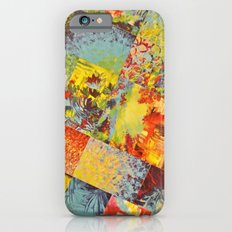 COLORFUL INDECISION 3 - Wild Vivid Rainbow Abstract Acrylic Painting Mixed Pattern Pretty Art Gift  iPhone 6s Slim Case