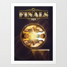NBA Finals 2015 Art Print
