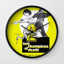 Vintage Film Poster- Two Champions of Death (1980) Wall Clock