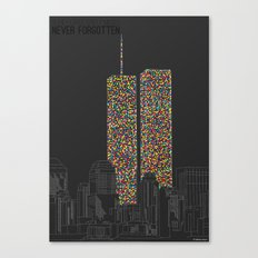 2606 Souls compose The Twin Towers Canvas Print