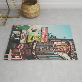 Lower Broadway, Nashville print  Rug