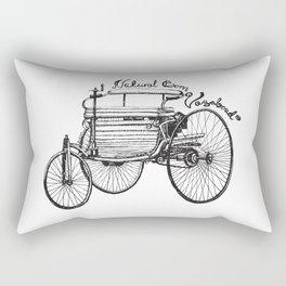 Vintage benz 1885 | Natural Born Vagabond™  Rectangular Pillow