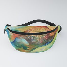 Colorful Fish in Watercolour  Fanny Pack