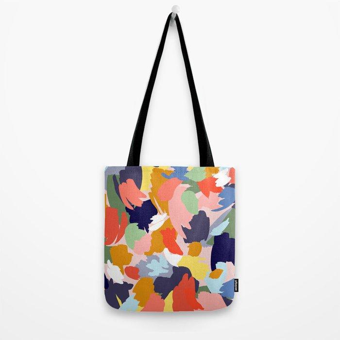 Bright Paint Blobs Tote Bag