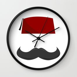Man with a Fez Wall Clock