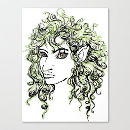 Female elf profile 1 Canvas Print