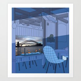 Sydney After Lunch Art Print