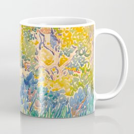 Henri-Edmond Cross Neo-Impressionism Pointillism The Artist's Garden at St. Clair Watercolor Paintin Coffee Mug