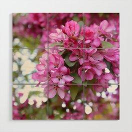 Deep pink blossom Wood Wall Art