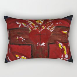 Jesus' Crucified Heart Rectangular Pillow
