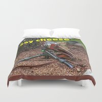photographer Duvet Covers featuring Photographer by Robert Raney