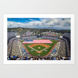 Dodger Stadium Opening Day Art Print