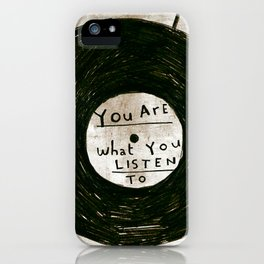 you are what you listen to, GRUNGE iPhone Case