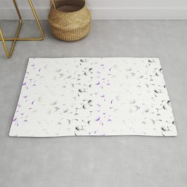 Dandelion Seeds Asexual Pride (white background) Rug
