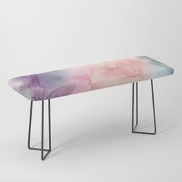 Dark and Pastel Ethereal- Original Fluid Art Painting Bench