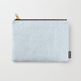 Paris Pastel - Soft Light Blue Mid Century Modern Pattern Carry-All Pouch