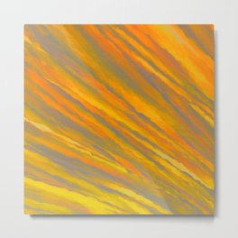 Canary Yellow Metal Print