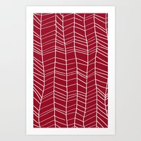 herringbone Art Prints featuring Herringbone  by Rachelmel1