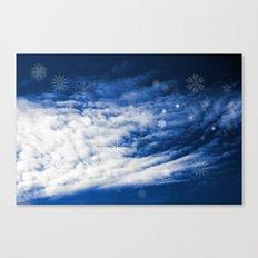 Snowy heaven Canvas Print