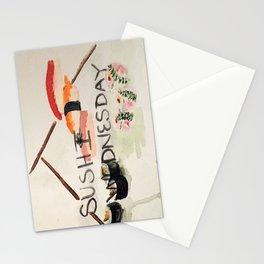 Sushi Wednesday  Stationery Cards