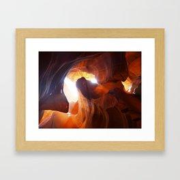 Antelope Canyon Swirl Framed Art Print