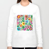 folk Long Sleeve T-shirts featuring folk grassland by bachullus