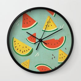Vintage Watermelon Pattern Wall Clock
