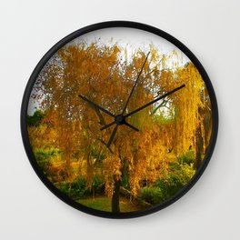 Our Golden Willow Wall Clock