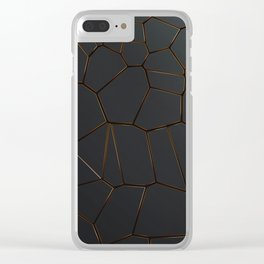 Golden Seams Clear iPhone Case