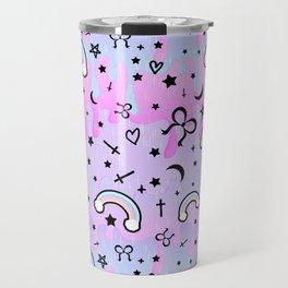 Cute Melting Pastel Chaos Travel Mug