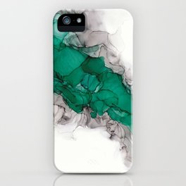 Study in Green iPhone Case