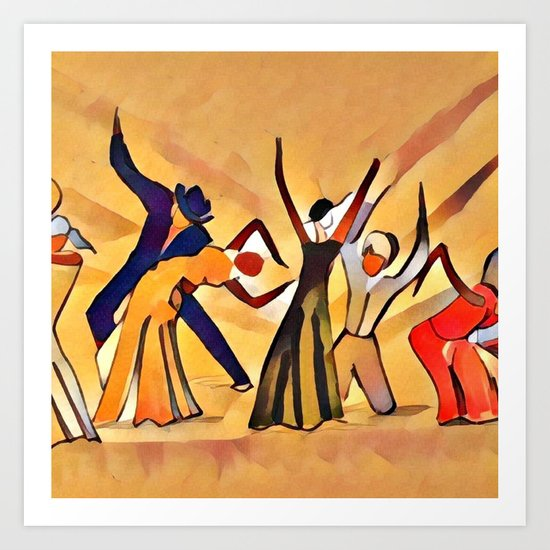 Song & Dance Art Print