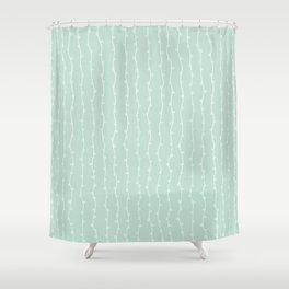 Willow Stripes - Sea Foam Green Shower Curtain