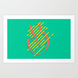 Tropical B Art Print